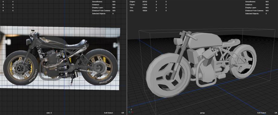 Maya摩托车模型制作教程