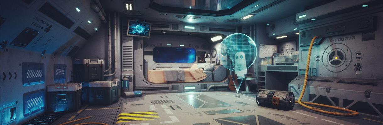 逃生:對科幻場景進行紋理化和照明