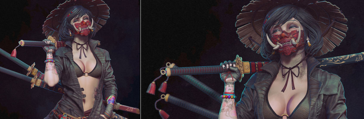 Kunoichi:在ZBrush中雕刻風格化的角色