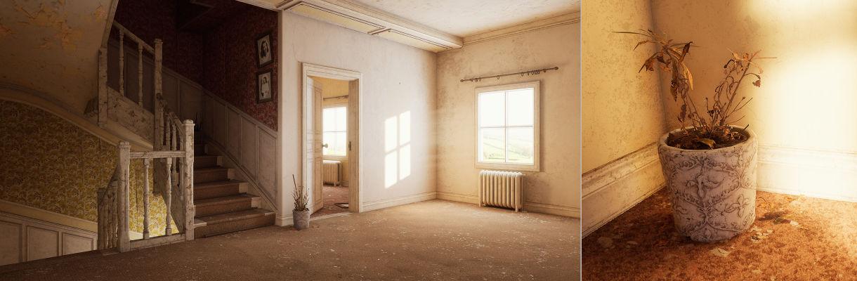 在UE4中創建廢棄的家庭室內