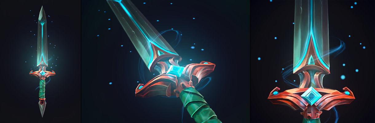 Spirit Sword:在3ds Max和ZBrush中建模程式化武器