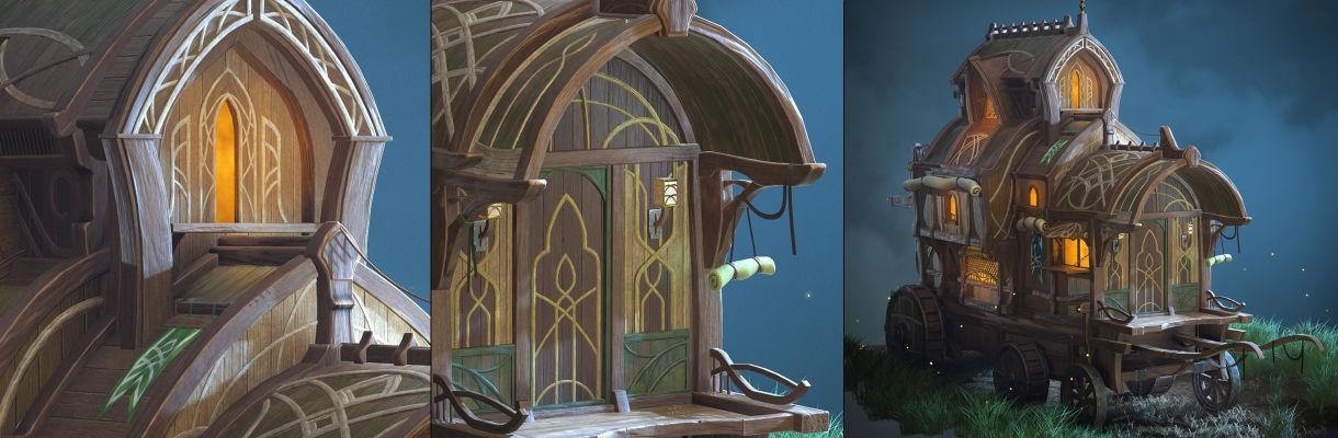 在Blender和ZBrush中創建程式化的Elven Wagon