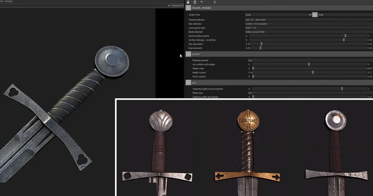 Breakdown: Modular Swords in Substance Designer