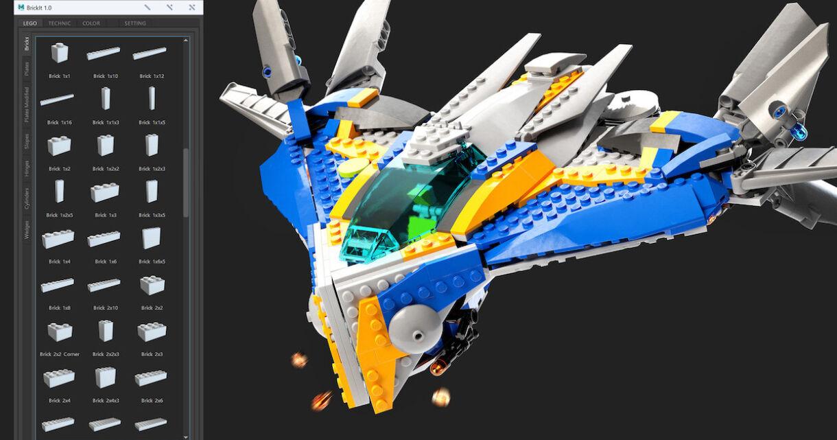 BrickIt – Lego Tool for Maya
