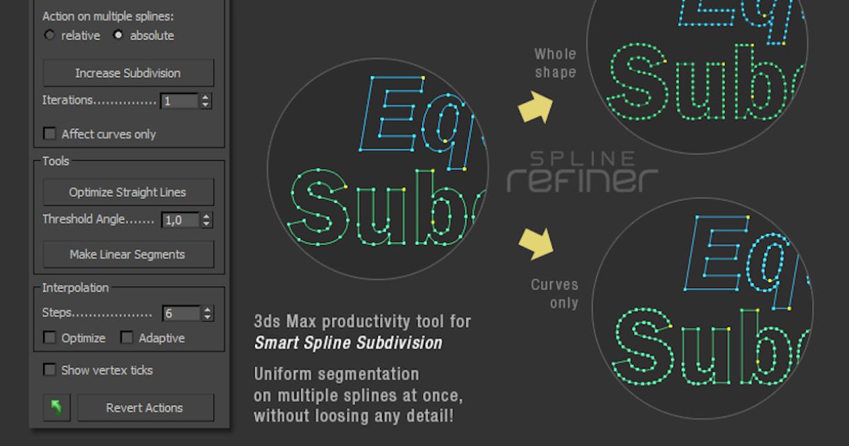 Spline Refiner for 3DS Max