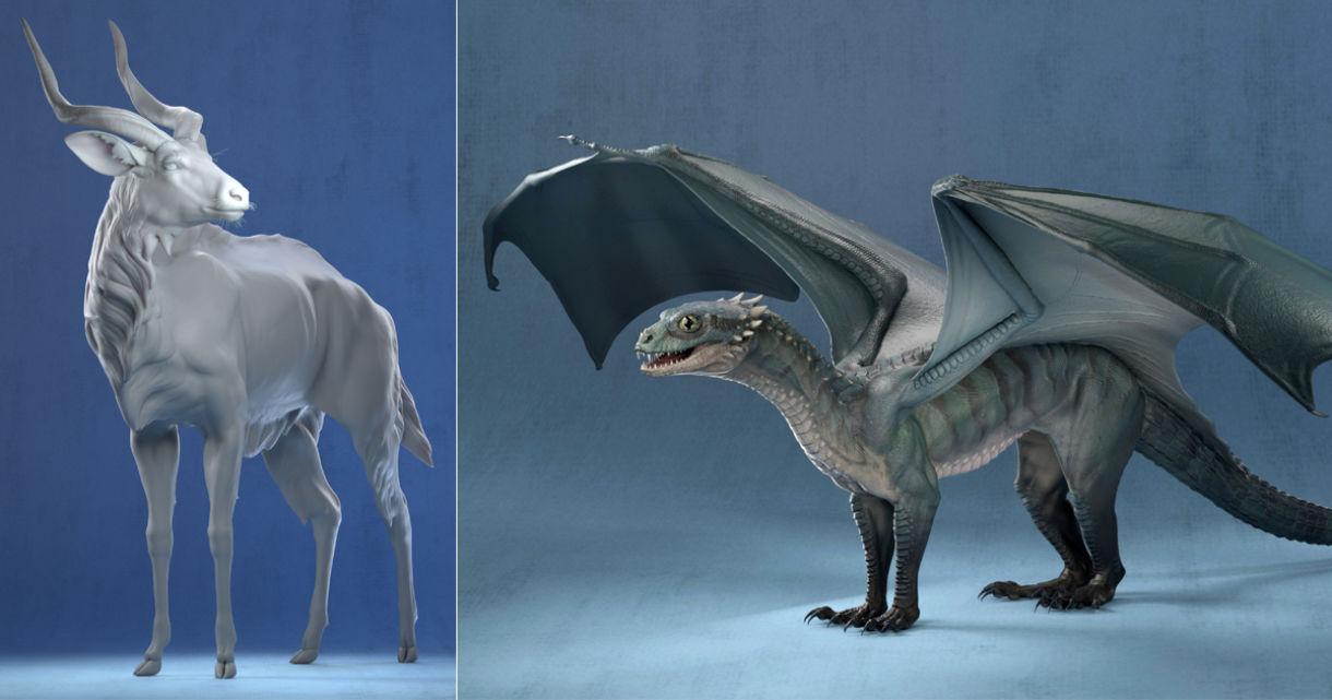 CGMA Student Project: Antelope & Dragon Studies
