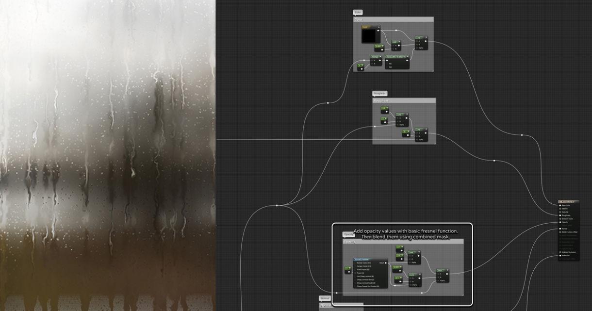 Breakdown: Animated Raindrop Material in UE4