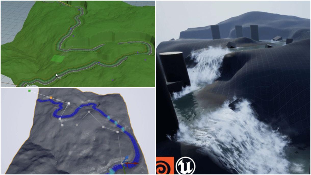 River Simulation in Houdini & UE4
