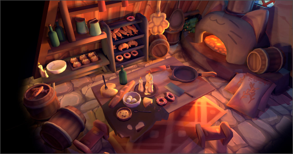 Creating a Hand-Painted Interior of Cat's Bakery