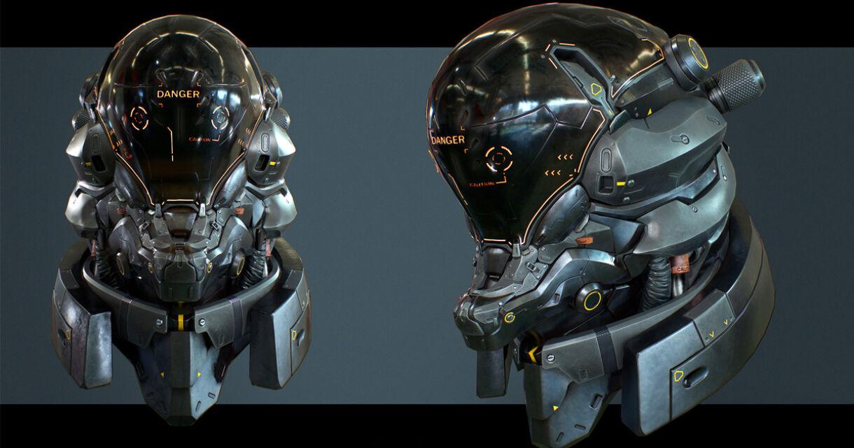 Designing a Sci-Fi Helmet