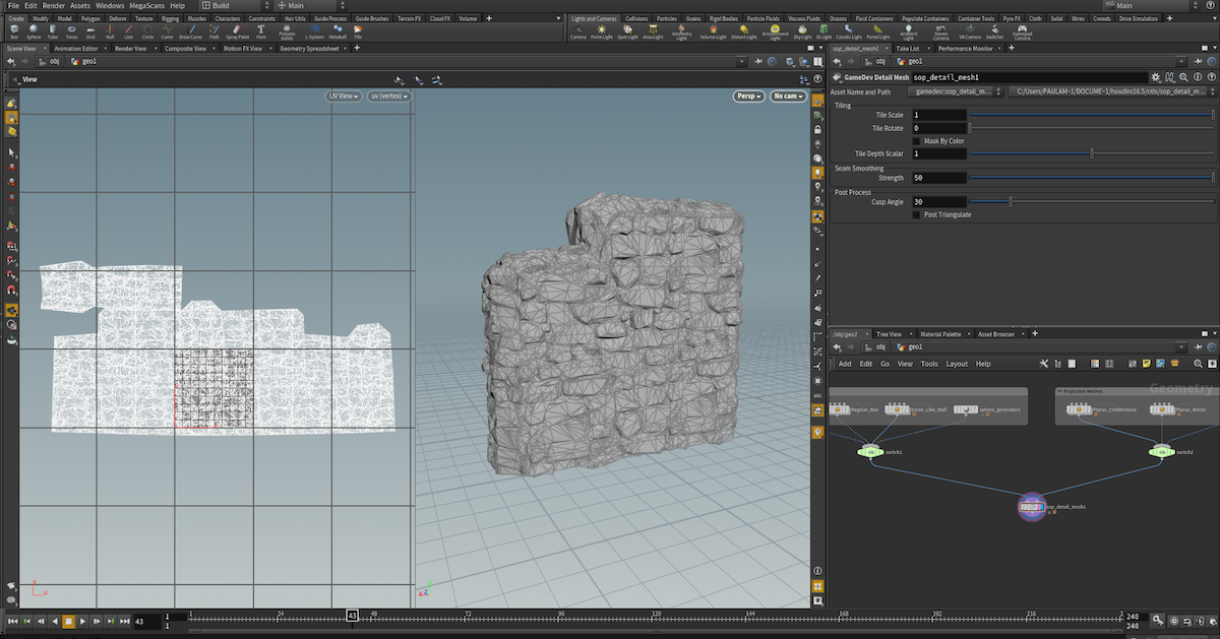 Houdini Game Tools: A Guide To Detail Mesh