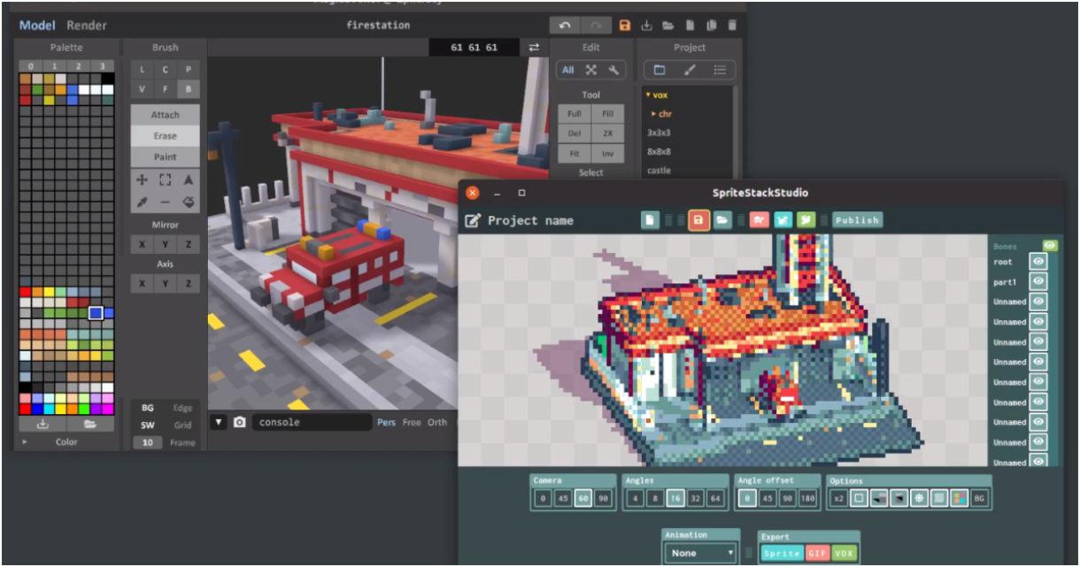 SpriteStack: Voxel Editor, Animator & Renderer