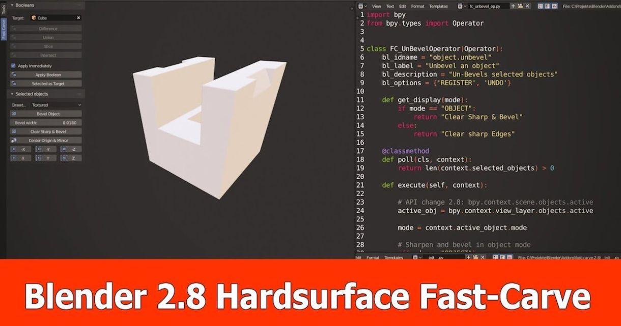 Add-on for Hard Surface Modeling in Blender