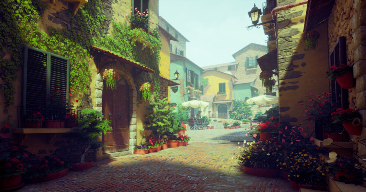 Small Italian Town Atmosphere Captured in UE4