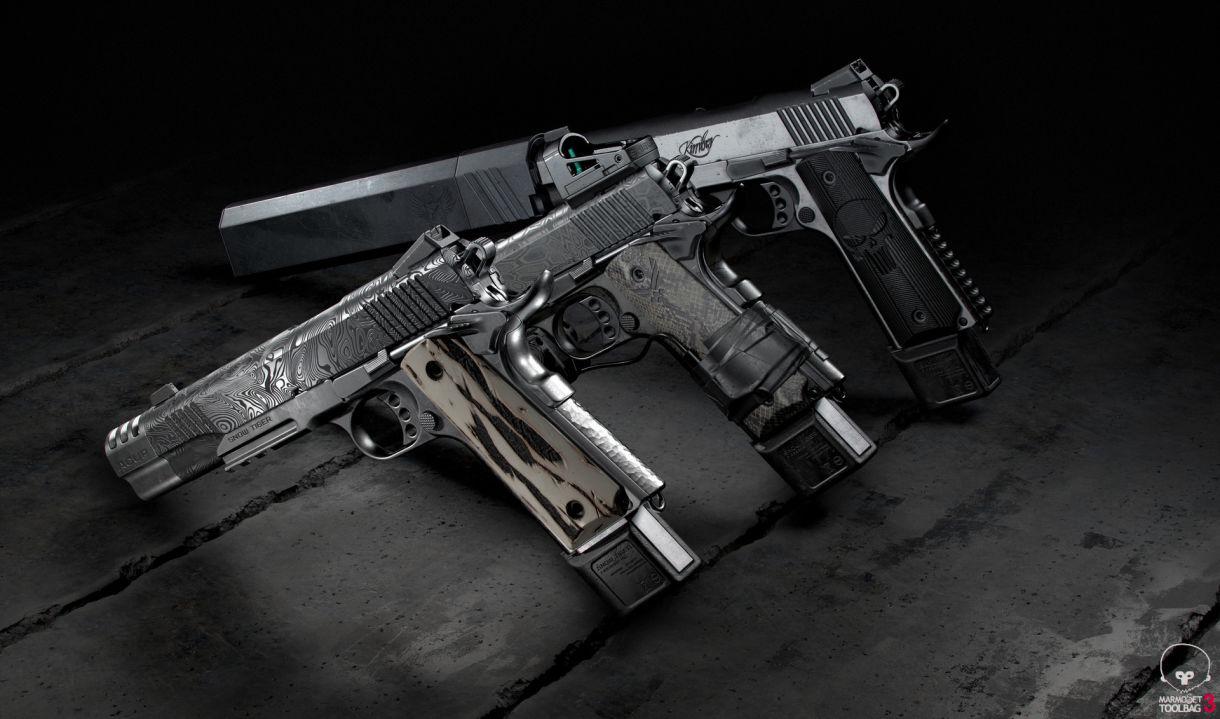 Building Fine Custom Materials for Virtual Guns