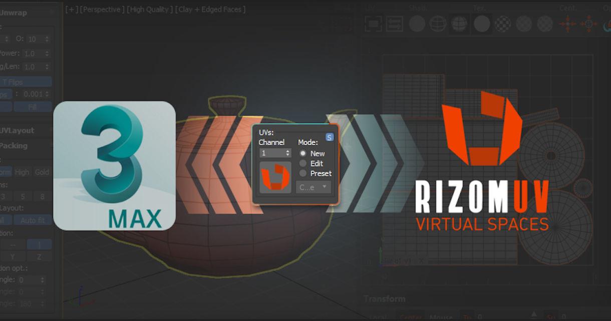 3DSMax – RizomUV Bridge