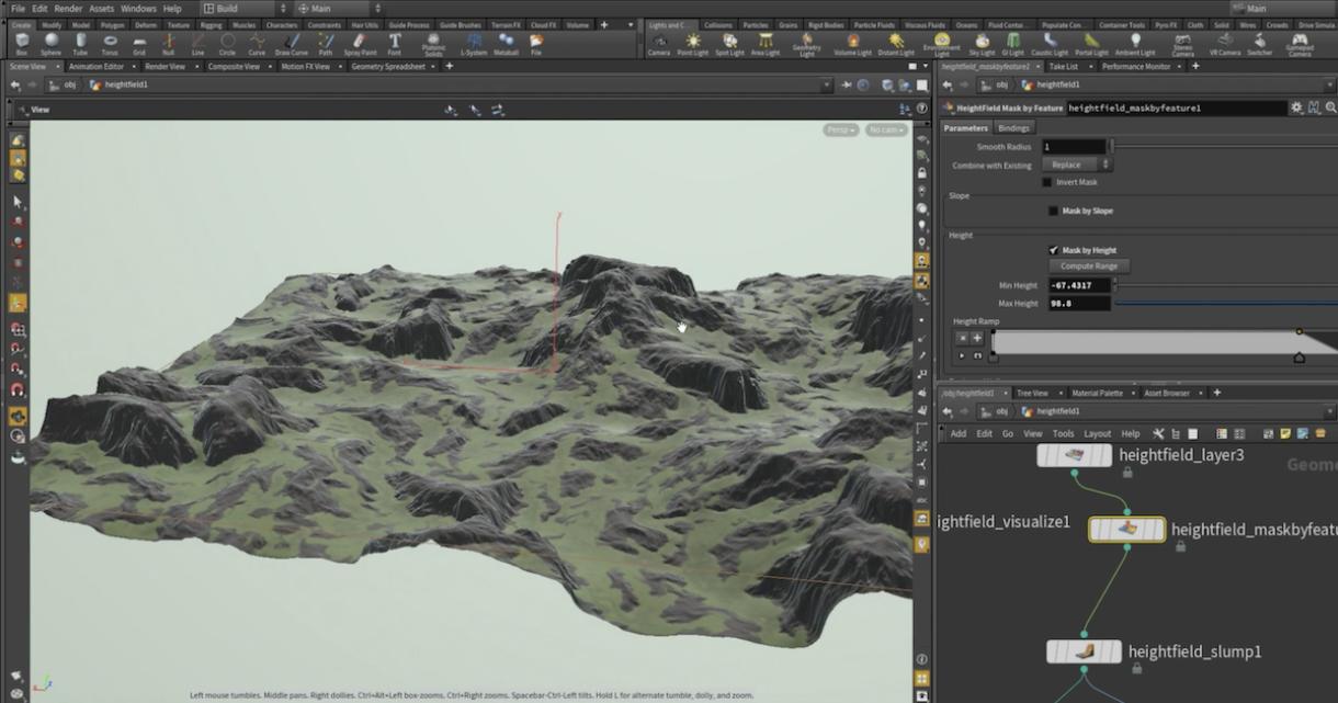 Generating HeightField Terrain Textures in Houdini