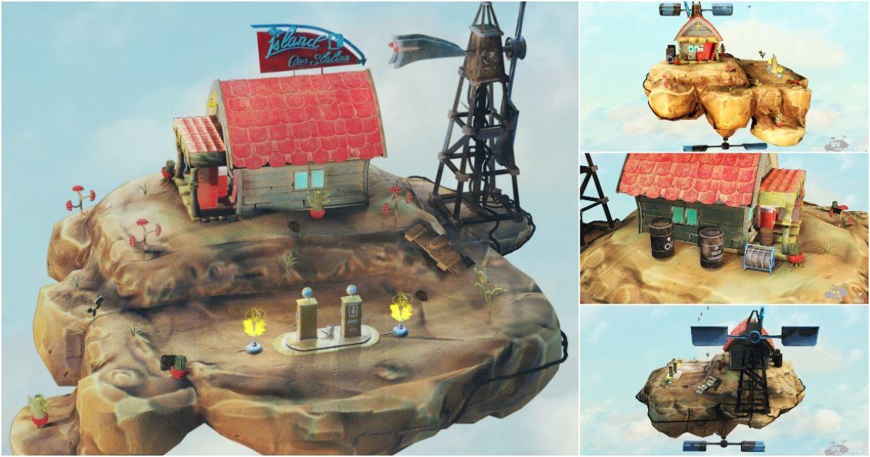 Stylized Sky Island: Modeling, Texturing, Animation