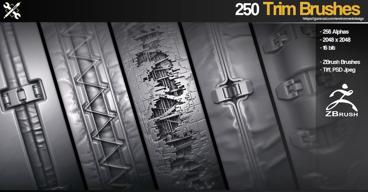 250 Sci-Fi Trim Brushes