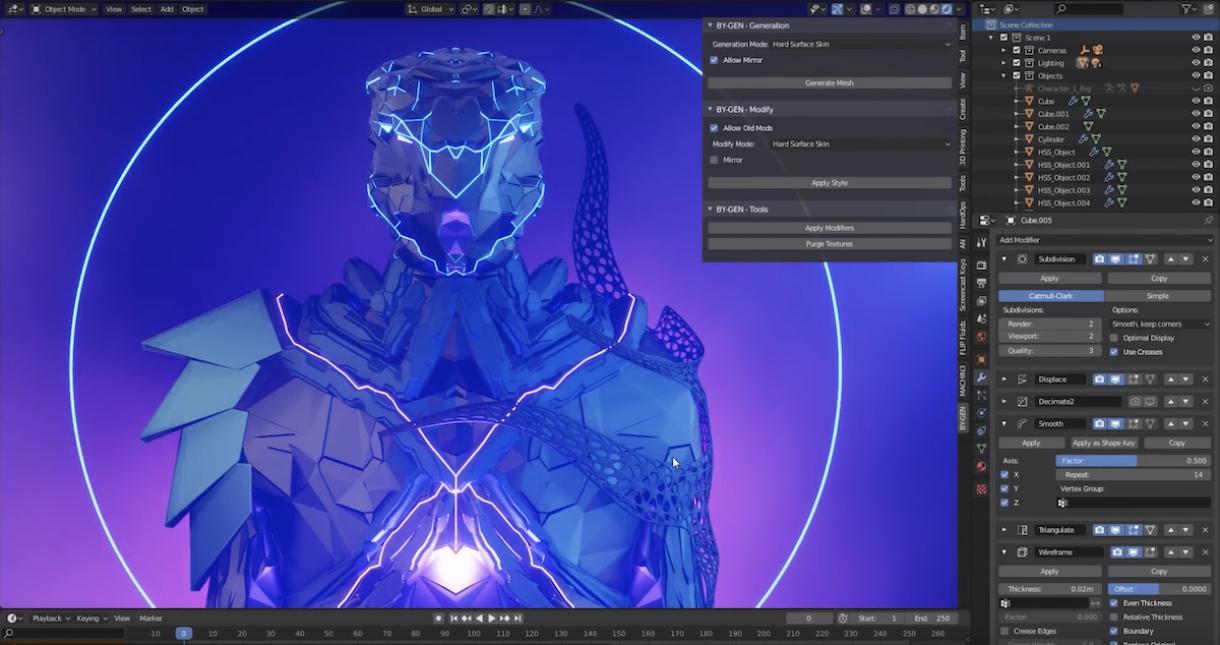 BY-GEN: Generative Modeling in Blender