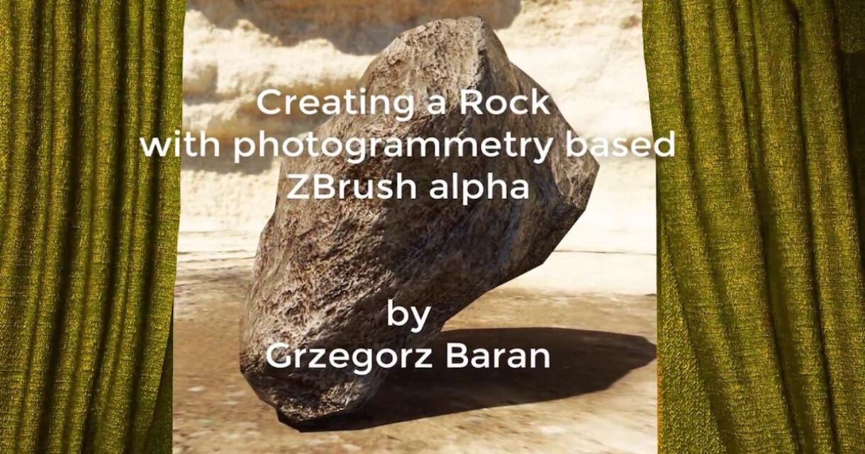 Creating Rocks With Photogrammetry-Based ZBrush Alpha