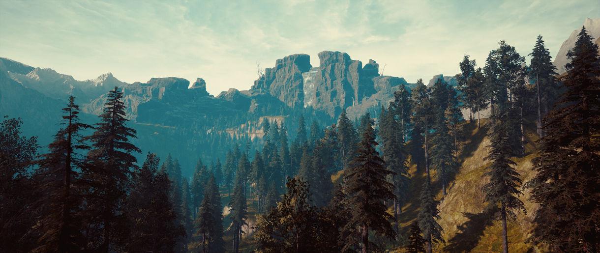 Making Realistic Mountain Scenes in UE4