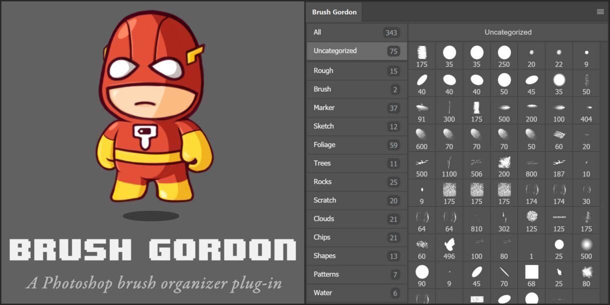Brush Gordon – A Photoshop Brush Organizer Plugin