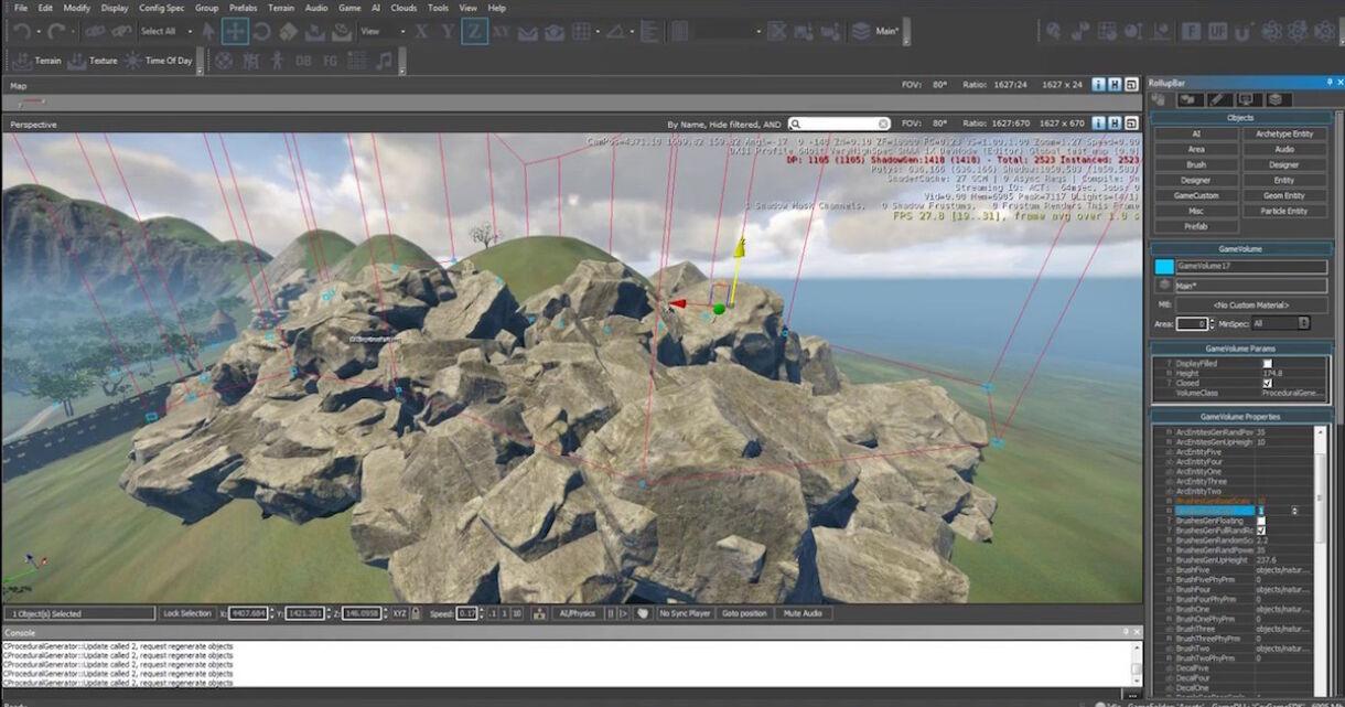 Procedural and Random Generator for CryEngine