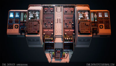 How to Build a Sci-Fi Cockpit for a Game?