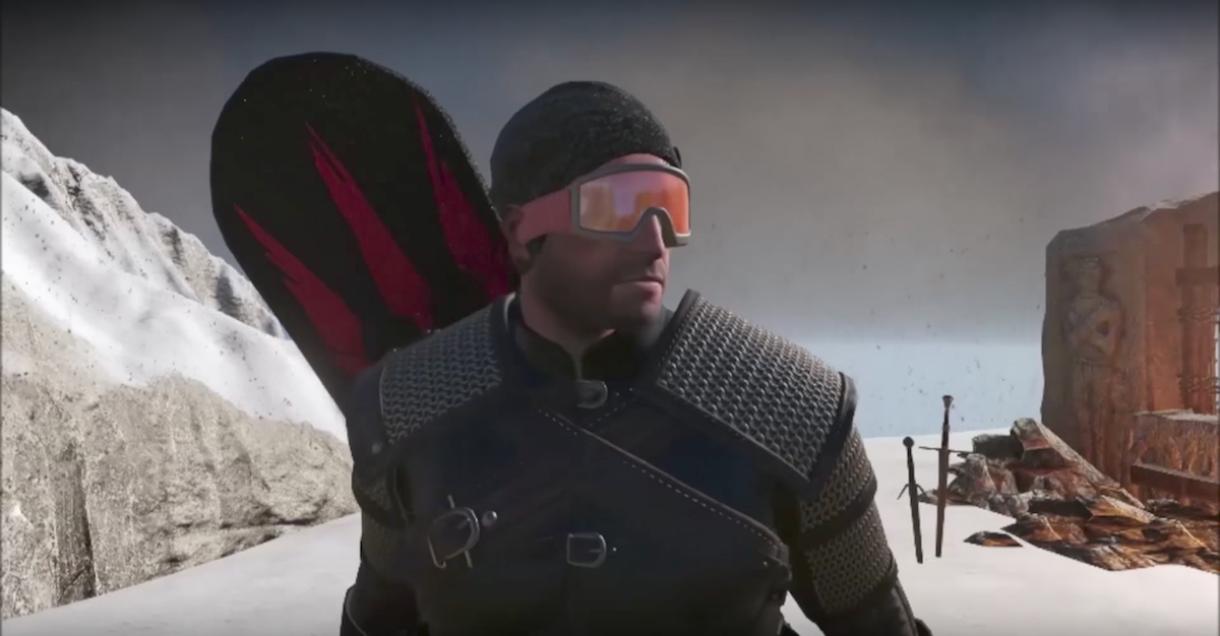 Geralt Goes Snowboarding
