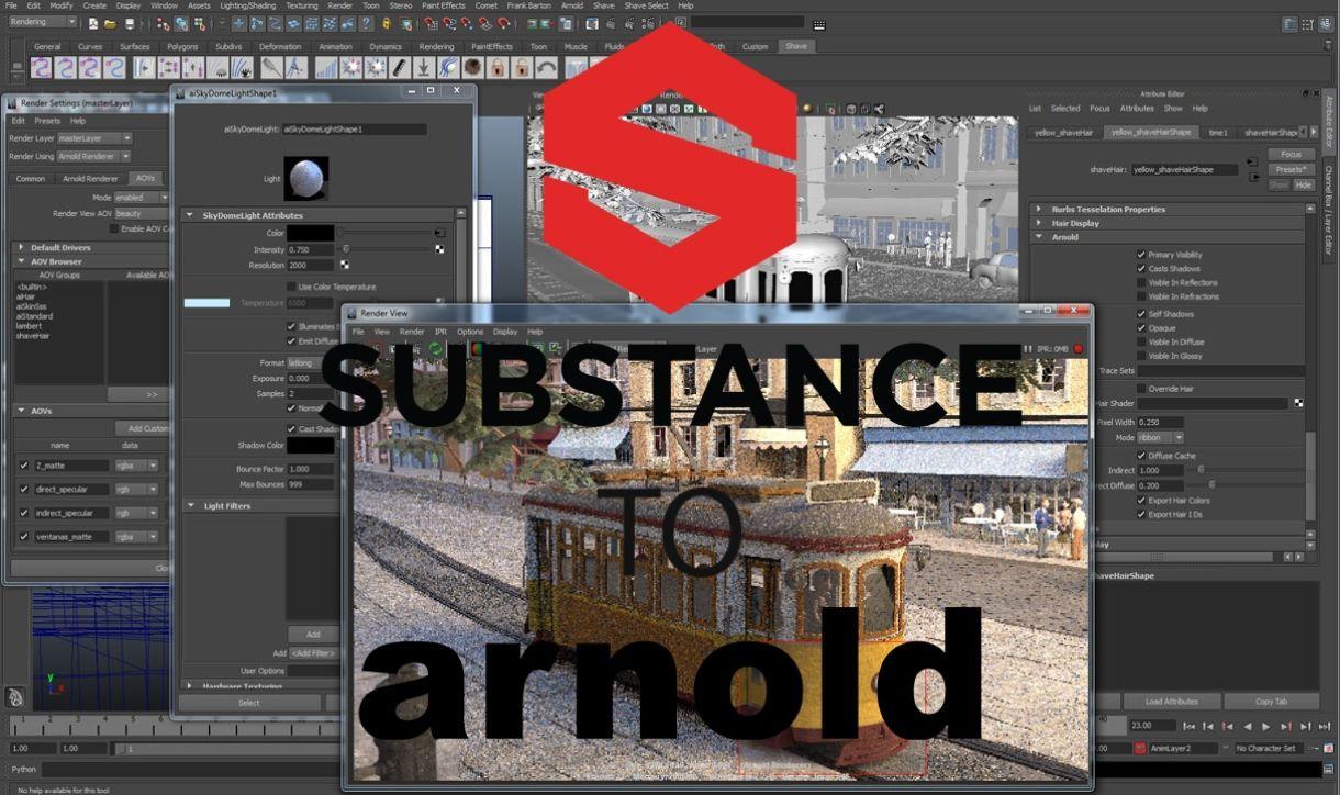 Substance Painter to Maya Arnold 5 Script