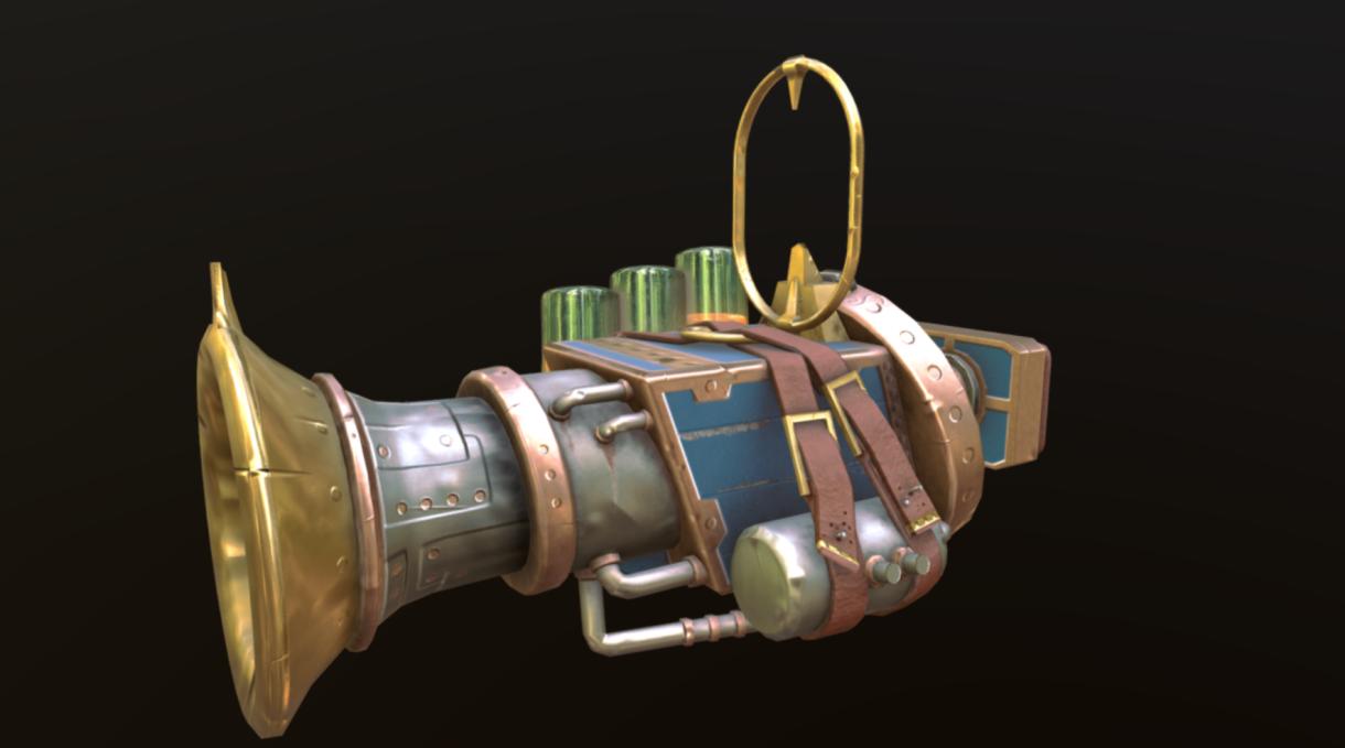 Stylized Gun: Painting, Design, Rendering