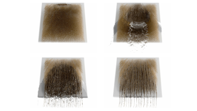 A Multi-Scale Model for Simulating Liquid-Hair Interactions