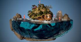 Creating 'Turtle Civilization' Diorama