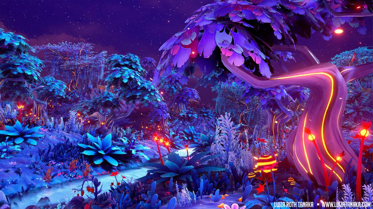 Extraterrestrial Vegetation in 3D Scenes