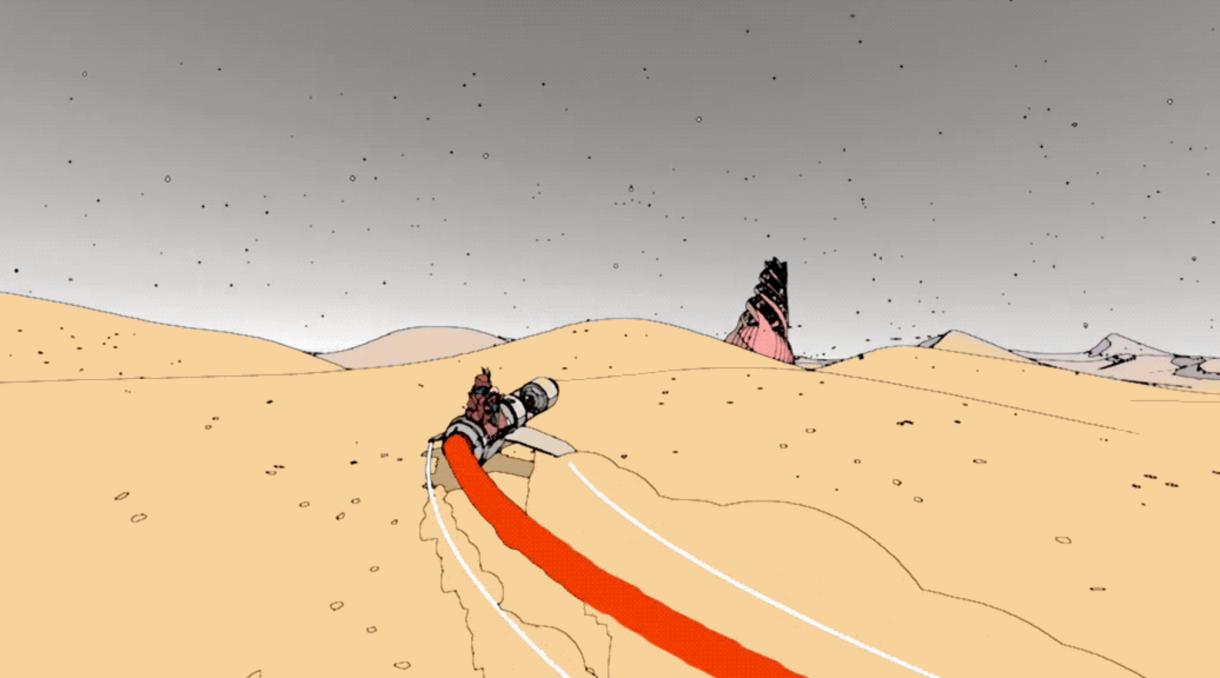 Desert, Moebius, Unity 5 & Modern Art Mixed in One Game