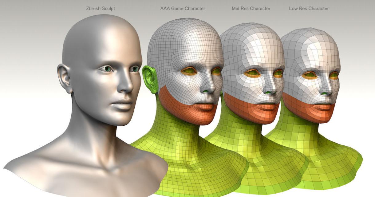 3D Character Bust BaseMesh Pack