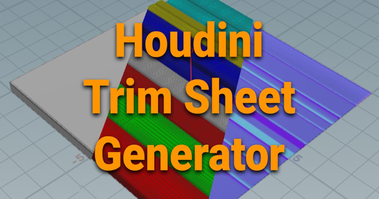 Free Trim Sheet Maker for Houdini