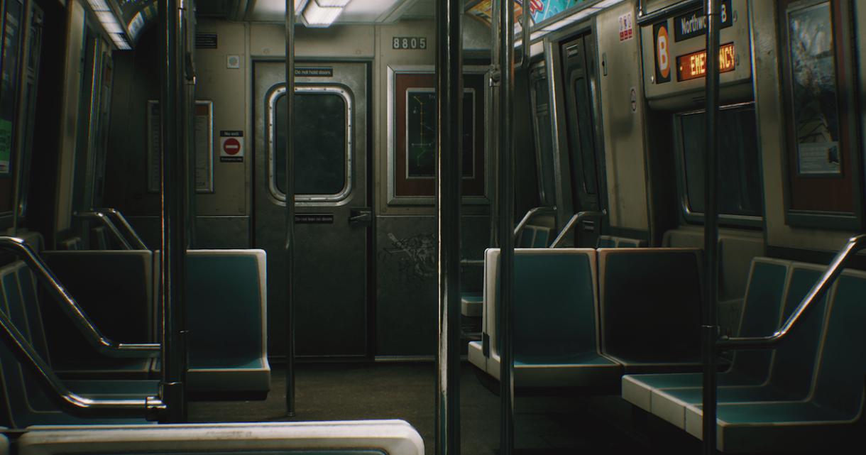 Free Modular Subway Train for UE4