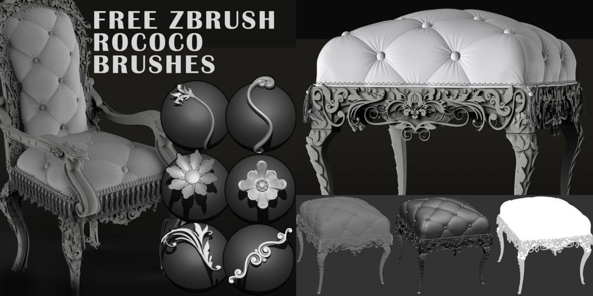 Free Zbrush Rococo Brushes