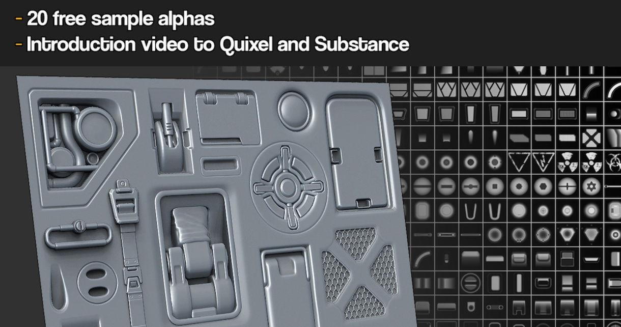 20 Free Hard Surface Alphas