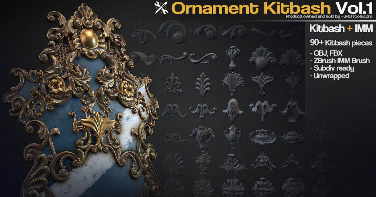 94 Ornament Kitbash Pieces