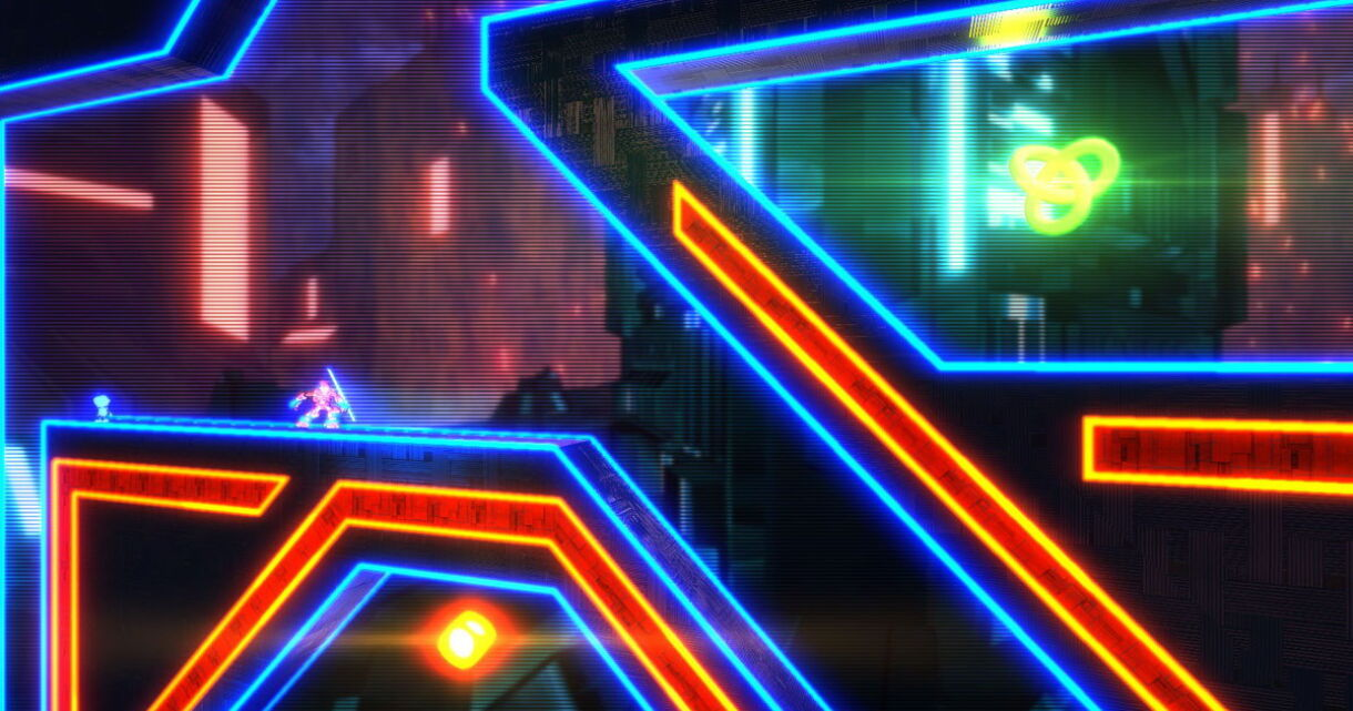 Exception: Neon-filled, Level-twisting Platformer