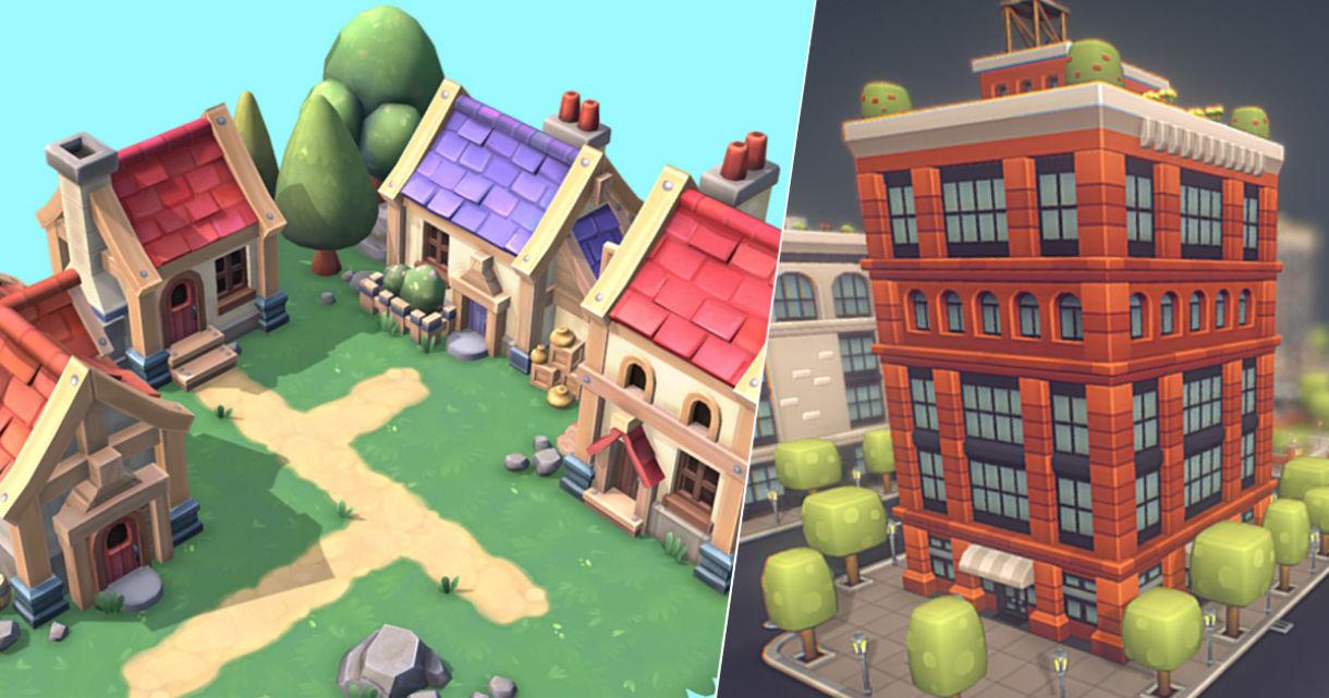 Sketchfab Bundle: Low Poly Buildings