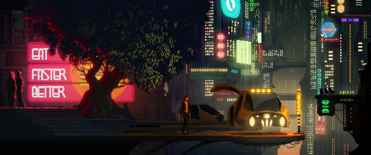 The Last Night: Pixel Art Cyberpunk Open World Game