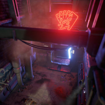 Cyberpunk Alley: AAA-environment with Accessible Tools