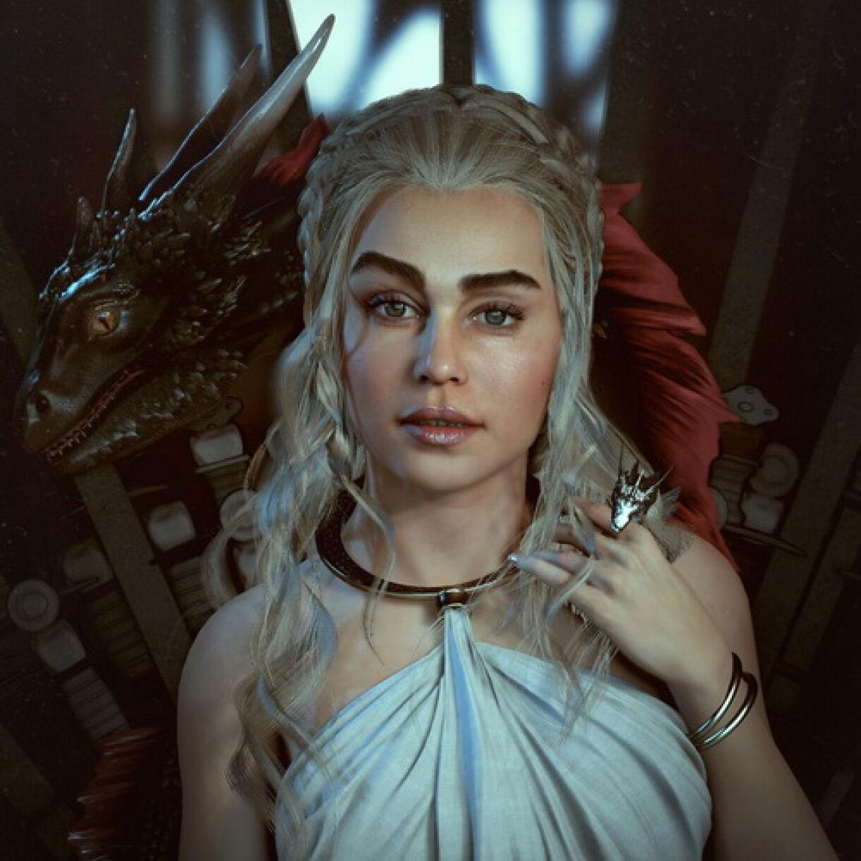 Daenerys recreated with UE4 & Zbrush