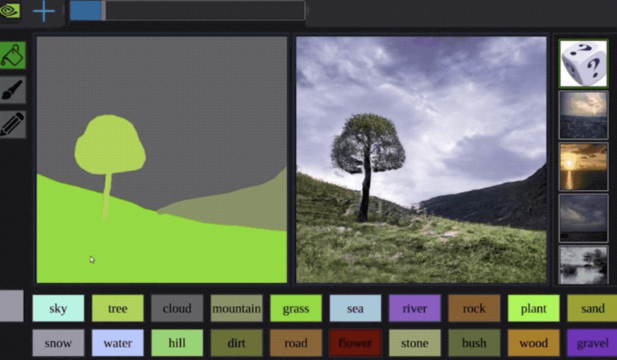 NVIDIA AI Turns Sketches into Photorealistic Images