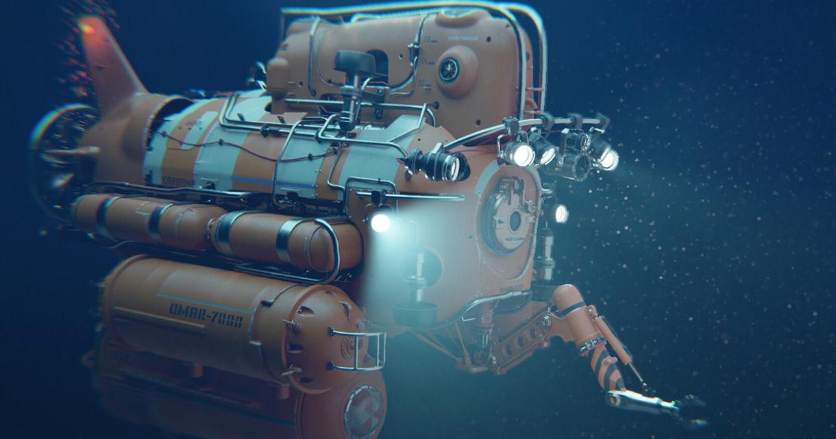 Working on a Submarine & Underwater Look in Blender