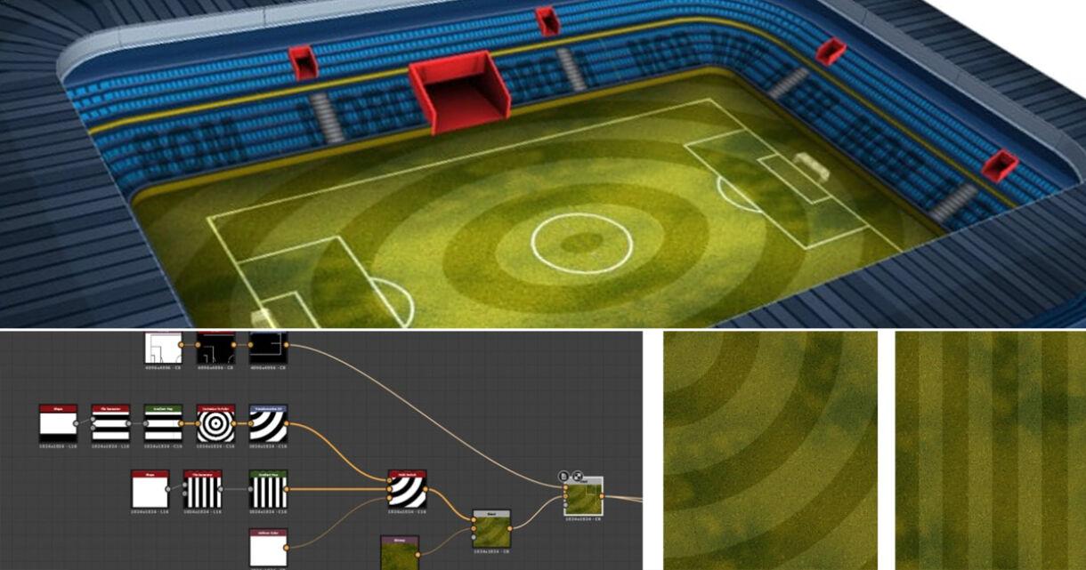 Soccer Stadium in Substance Designer